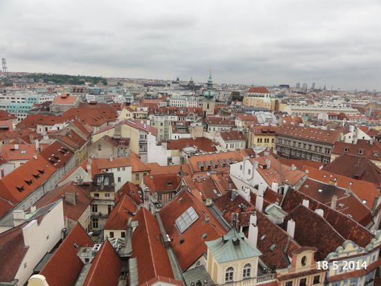 Old Town Hall and Astronomical Clock: The view from the tower