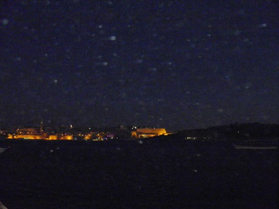 The Waterfront Hotel: View at night