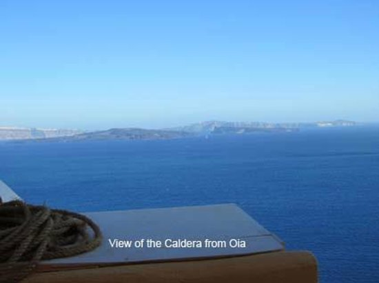 El Greco : View of the Caldera from Oia