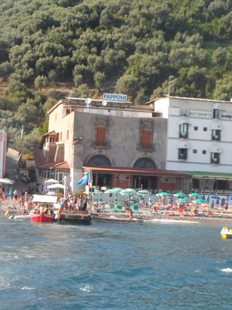 Hotel La Certosa: Hotel vu de la mer