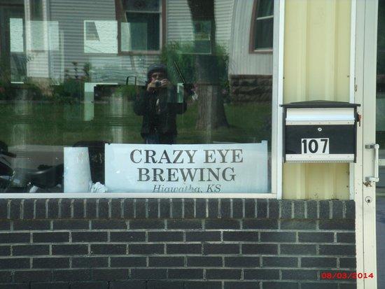 Hiawatha KS Crazy Eye Brewing Sign