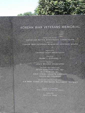 Korean War Veterans Memorial: Names