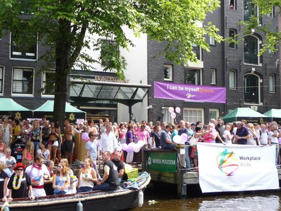 Hotel Pulitzer Amsterdam: The Pulitzer during Amsterdam Canal Pride 2014