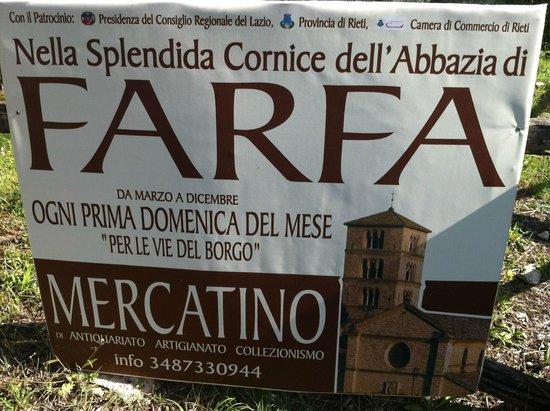 Abbazia di Farfa : cartello