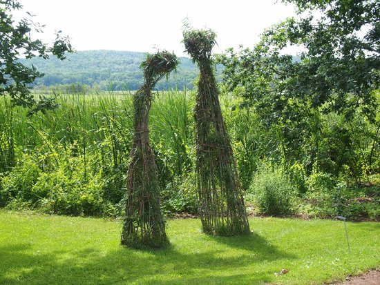 Annapolis Royal Historic Gardens: Interesting Sculptures Including These  Living U0027Adam And Eveu0027.