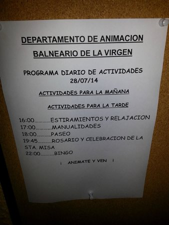Hotel-Balneario de la Virgen: animacion...
