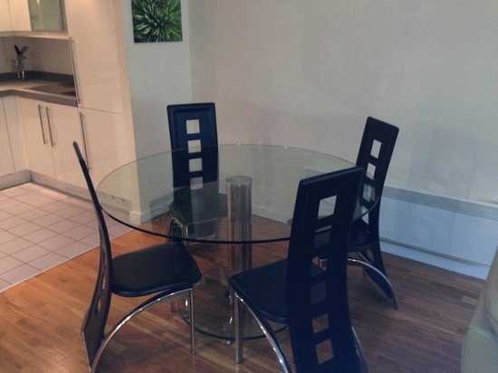 The Grainstore Apartments: dining table