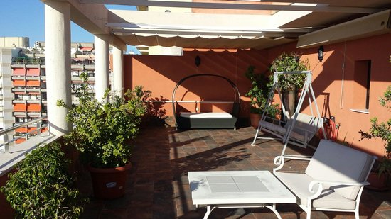 Hotel Spa Cadiz Plaza: Terraza Gran Suite