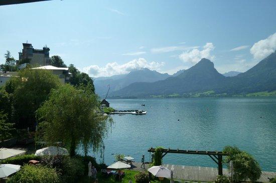 SeeVilla Wolfgangsee : Blick auf den See...