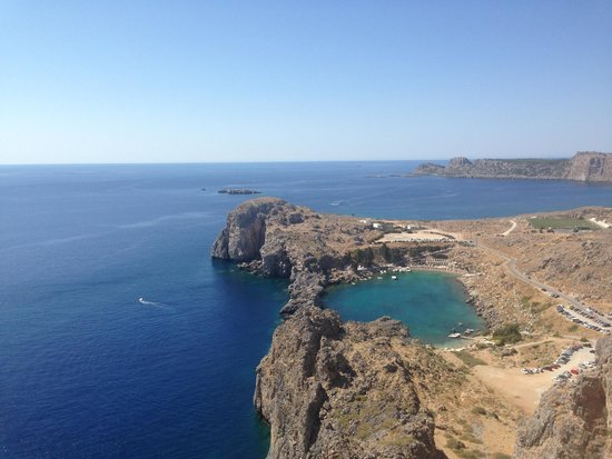 SunConnect Kolymbia Star: view from the top of Lindos