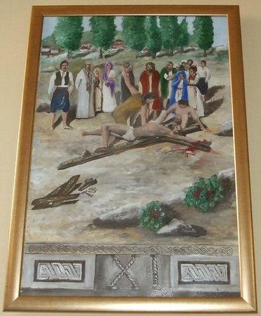 The eleventh station - Jesus is nailed to the cross - The Church of St Nicholas, Cavtat