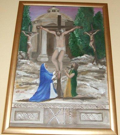 The twelth station - Jesus dies - The Church of St Nicholas, Cavtat