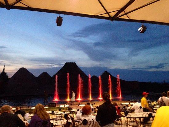 Magic Dancing Waters Show: Where we sat.