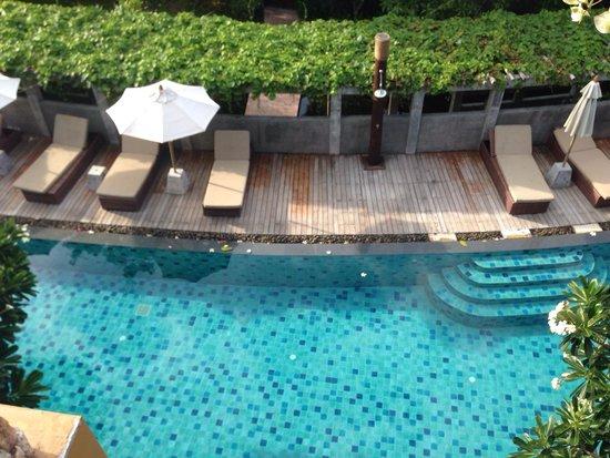 Deva Samui Resort & Spa: View of 2nd pool from 2nd floor room