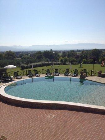 Tenuta Del Perugino : piscina con vista