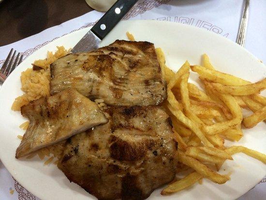 O SANTOS - Comida Portuguesa Restaurant: Grilled pork