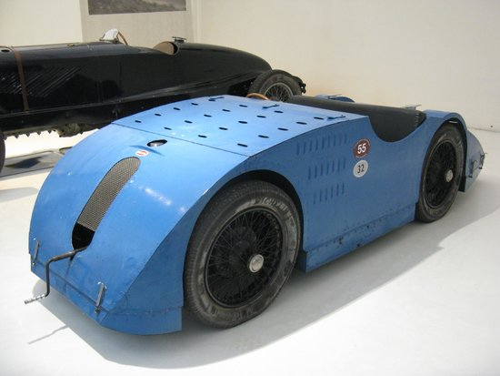 Cité de l'Automobile - Collection Schlumpf: A Bugatti. Wonderful vehicles. This one is from 1923 - a Biplace Course with a top speed of 190k