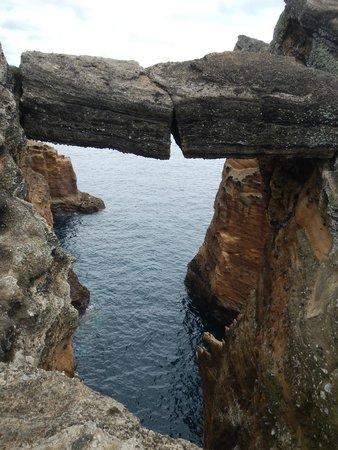 Islet of Vila Franca do Campo: hangende rots :-)