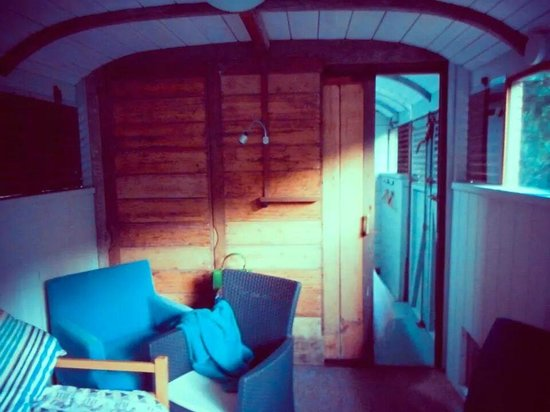 Mill House : railway carriage inside.