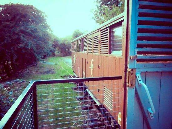 Mill House : railway carriage balcony