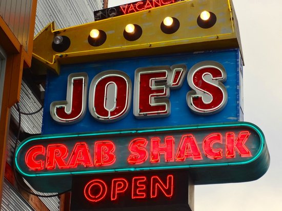 Joe's Crab Shack: Look for the sign