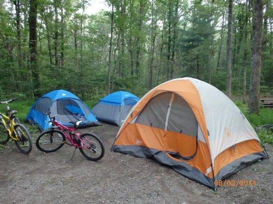 Mauch Chunk Lake Park: Camping @Mauch Chunk Lake 8/02/2014
