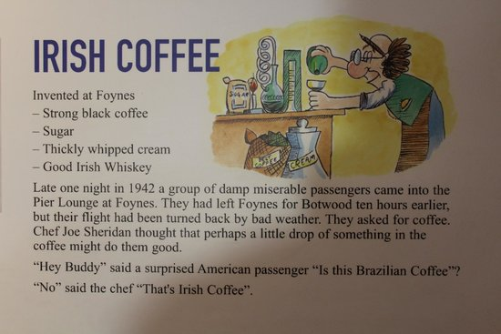 Foynes Flying Boat Museum : L'histoire de l'Irish coffee