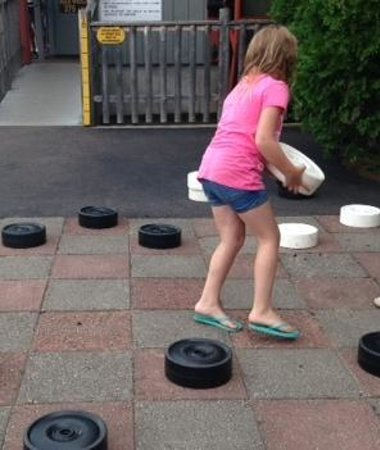 Clark's Trading Post and the White Mt. Central RR: Giant checker game