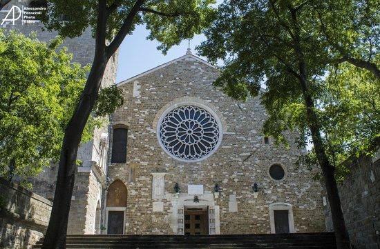 Cattedrale di San Giusto: Facciata con rosone
