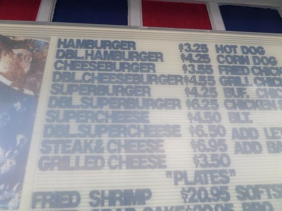 Big Oak Drive In & BBQ: Other sandwich prices