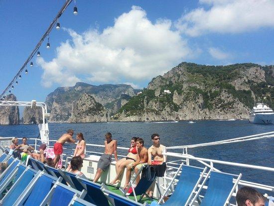 Marine Club Minicrociere : On board the Marine Club boat