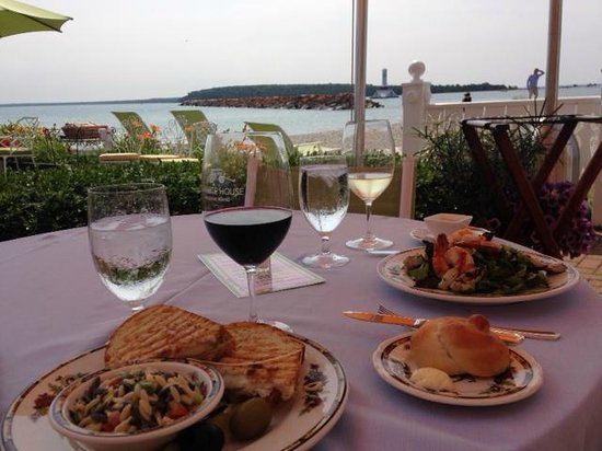 Carriage House: our lunch - with a view