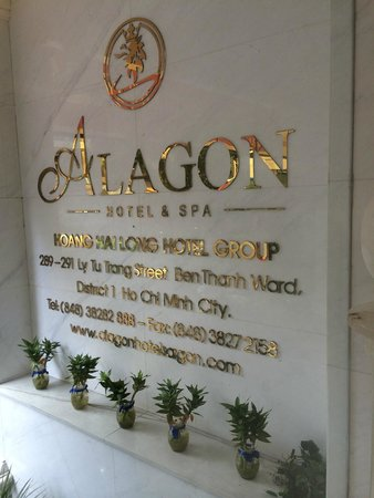 Alagon Saigon Hotel & Spa: ป้ายโรงแรม