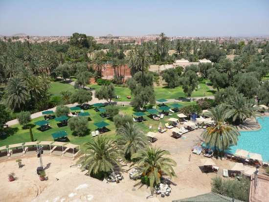 Club Med Marrakech La Palmeraie : vue éleveé sur le centre du club