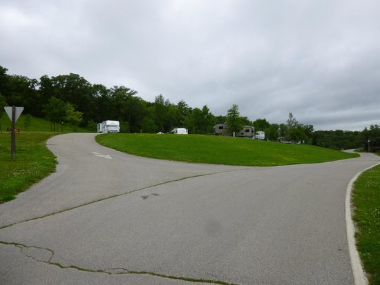 Stanton, IA: View of upper campground sites
