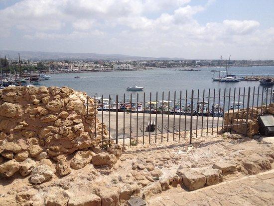 Paphos Harbour Castle : View of harbour