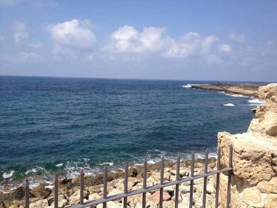 Paphos Harbour Castle : View out to sea