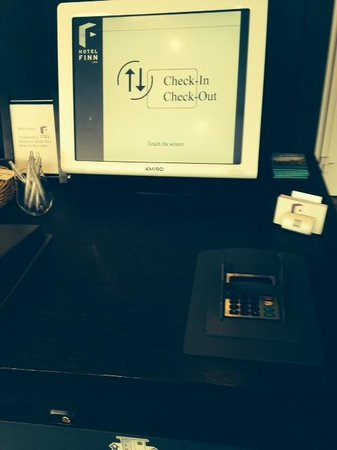Hotel Finn : Self-service check in and check out
