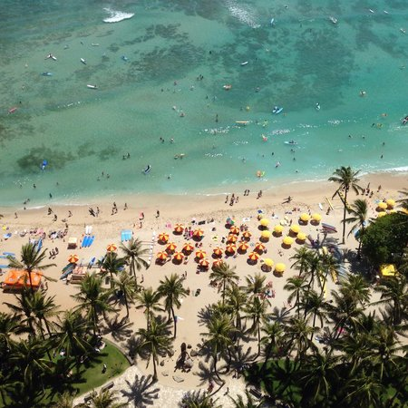 Hyatt Regency Waikiki Resort & Spa: 真下にビーチ
