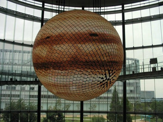 National Museum of Emerging Science and Innovation Miraikan: The Globe demonstrating other planets