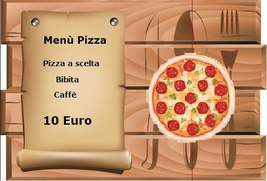 Hotel Sole del Baldo: Menù Pizza