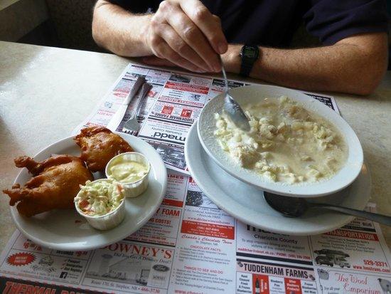 Carman's Diner: Fried Haddock and Fish Chowder