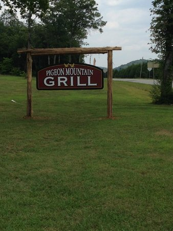 Pigeon Mountain Country Store & BBQ: The sign from the road