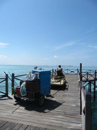 Pom Pom Island Resort & Spa : Mini trattore utilizzato dal personale
