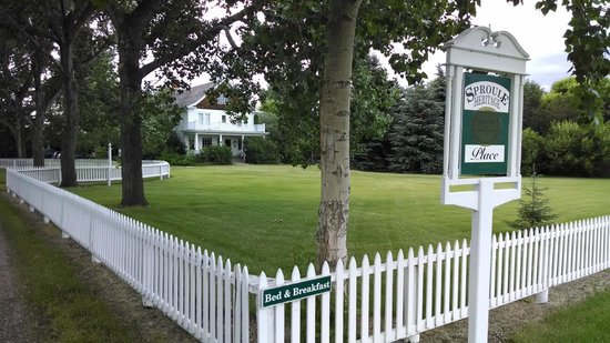 Sproule Heritage Bed & Breakfast: Front lawn area