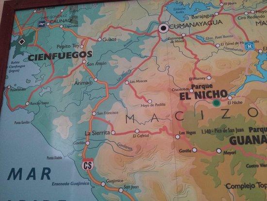 El Nicho Waterfalls: mapa