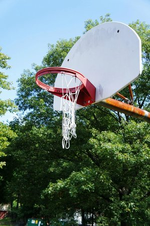 2 of the 4 basketball nets looked like this