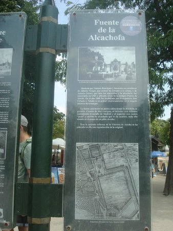 Parque del Retiro: Placa sinalizadora