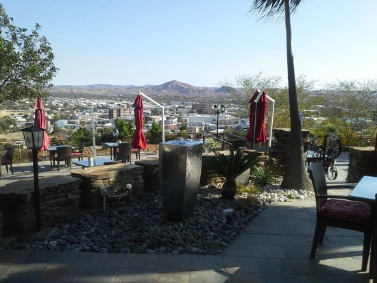 National Museum of Namibia: A view from the terrace at the Heinitzburg Hotel