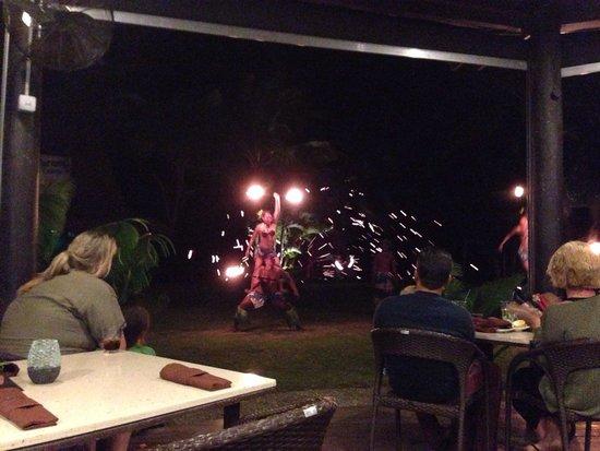 Uprising Beach Resort: Fire show